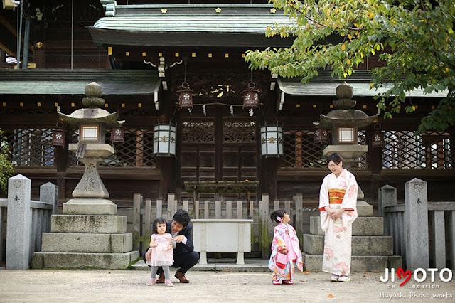 大阪天満宮での七五三出張撮影
