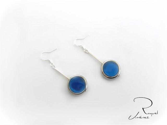 pendientes azules