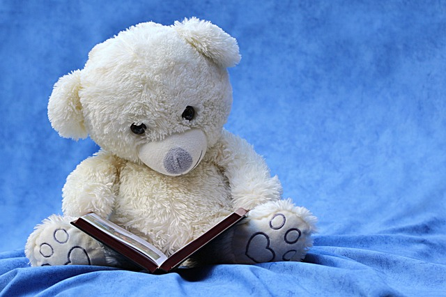 A Toy Reading a Book