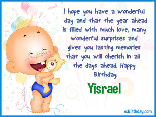 Yisrael Happy birthday