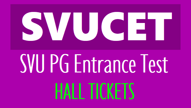 svucet svupgcet 2019 hall tickets,exam dates,hall tickets from www.svudoa.in or svucet 2019 results,rank cards,counselling dates,certificates verification