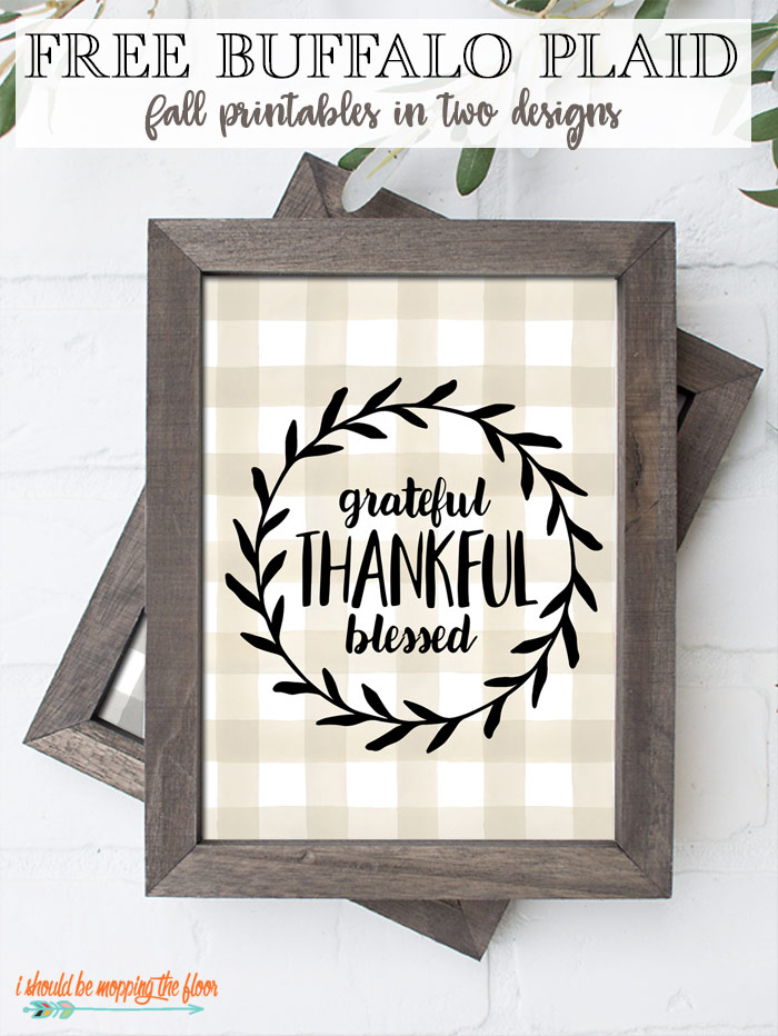 Buffalo Plaid Printables