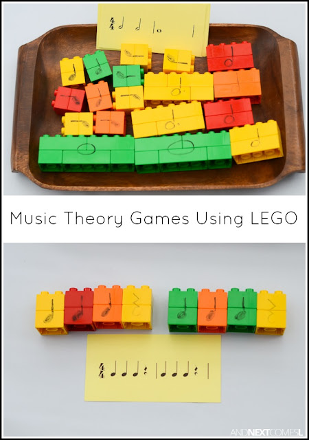 Music theory games for kids using LEGO DUPLO from And Next Comes L