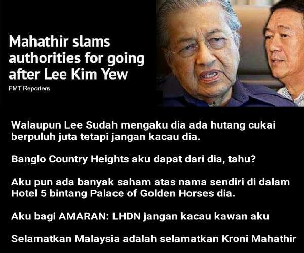 Mahathir Meroyan Kerana LHDN Mengejar Rakan dan Rakan Kongsi Perniagaannya