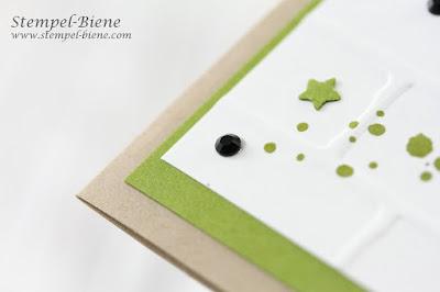 Stampinup Winterkatalog 2017; Stampin' Up!; Weihnachtskarte Grün; Match the Sketch; Malerische Weihnachten; Prägeform Ziegel