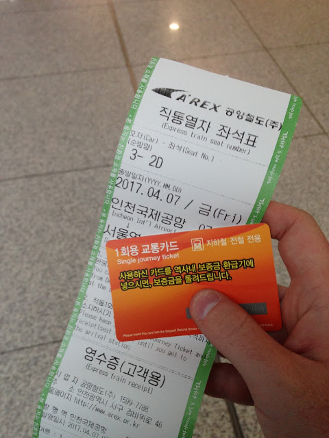 ticket into Seoul
