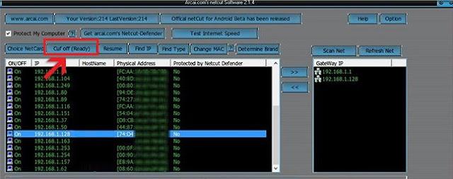 Cara Memutus Koneksi Internet Wifi dan LAN Via Netcut