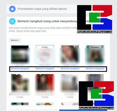cari unfollow orang di facebook versi browser laptop