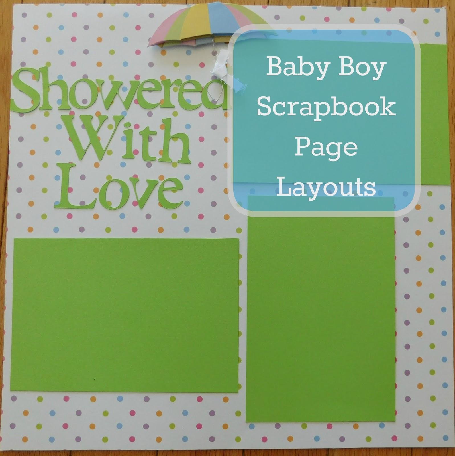 Scrapbook ideas for elderly - Baby Boy Scrapbooking Page Layouts