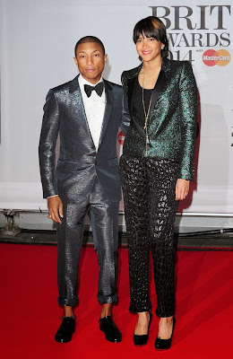 Pharrell Williams et sa femme BRIT AWARDS 2014
