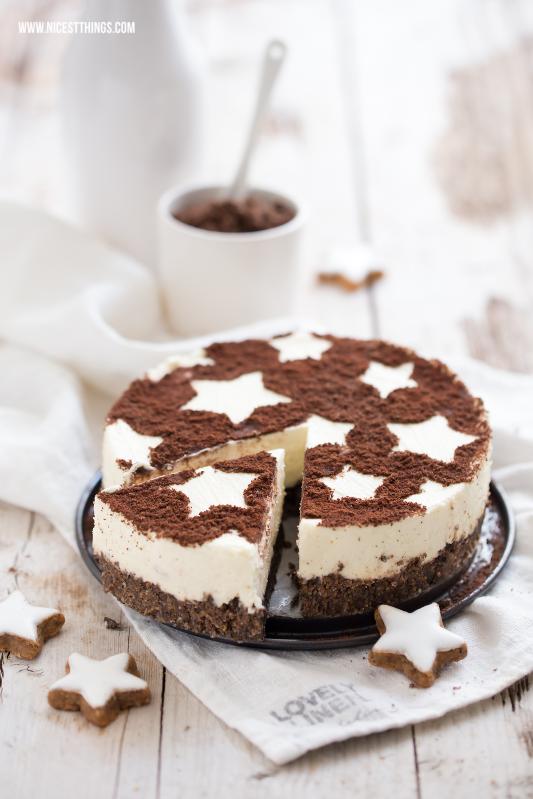 Zimtstern Cheesecake Zimt Käsekuchen Rezept Weihnachten Nachtisch #zimtstern #zimt #cheesecake #käsekuchen #weihnachten