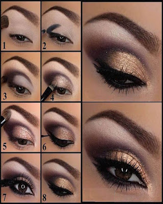 eye makeup golden elegant for day