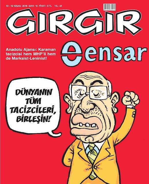Gırgır Dergisi - 13-19 Nisan 2016 Kapak Karikatürü