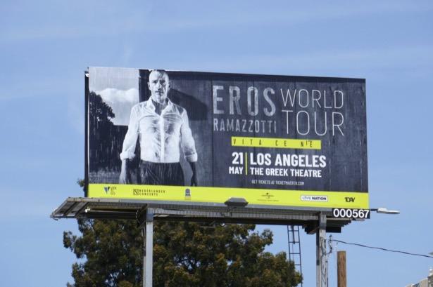 Eros Ramazzotti World Tour LA billboard