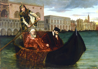 An 1872 representation of the two Foscaris - Francesco and  Jacopo - by the Spanish painter Ricardo Maria Navarette Fos