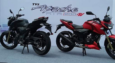 TVS Apache RTR 200 4V red & black image