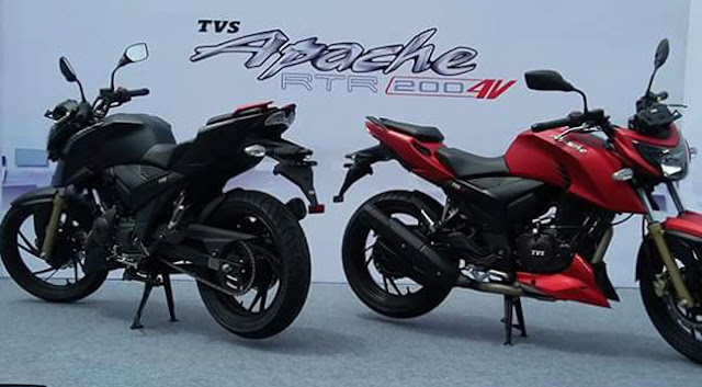 TVS Apache RTR 200 4V red & black image