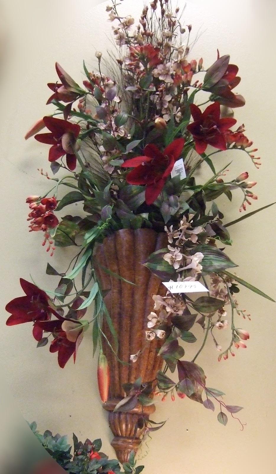 AnaSilkFlowers: Images!!!...Wall Sconces Silk Flowers ... on Wall Sconce Floral Arrangements Arrangement id=17159