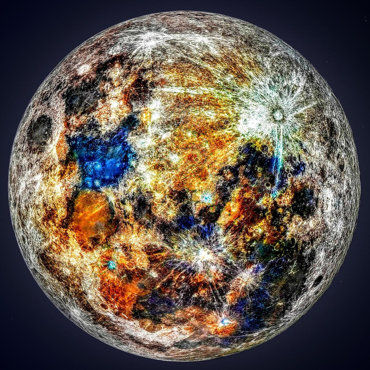 150,000 Photos Were Used To Reveal The Hidden Colors Of The Moon