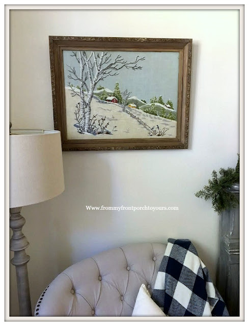 French Country Farmhouse-Vintage-Crewel-Artwork-From My Front Porch To Yours