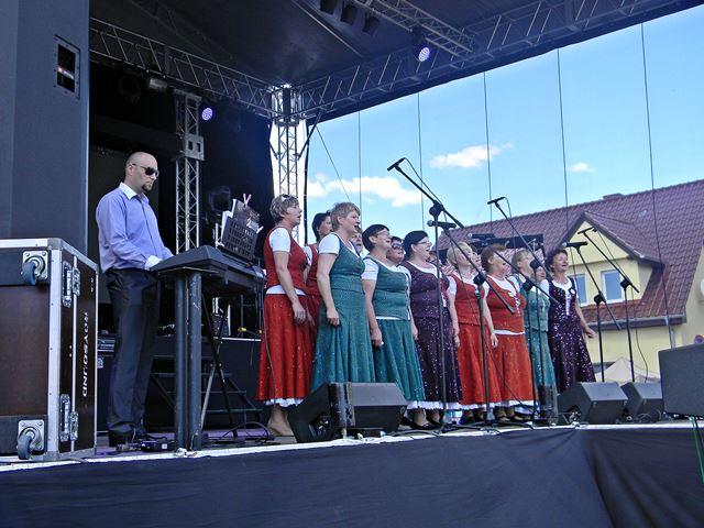 scena, kobiety, Pszczew, muzyka