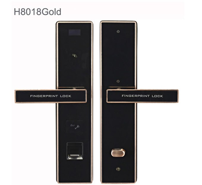 Khóa vân tay cửa gỗ H8018 giá rẻ
