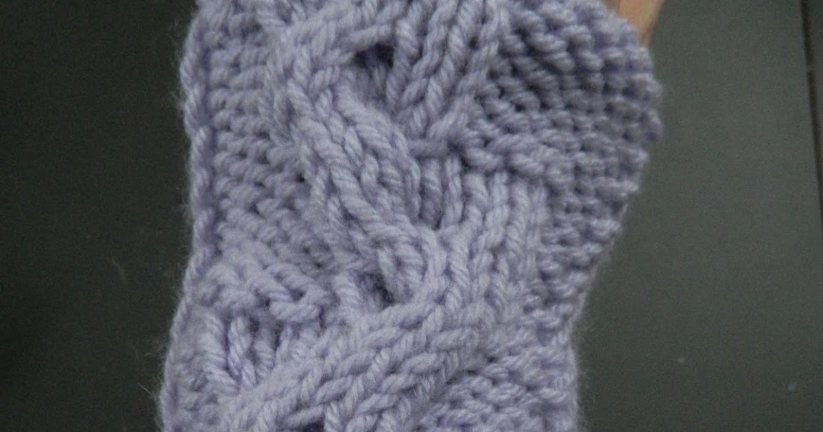 Knitting Patterns For Beginners Arm Warmers : Knitting Patterns for the beginner or the advanced knitter: Wavy Braid Knit C...