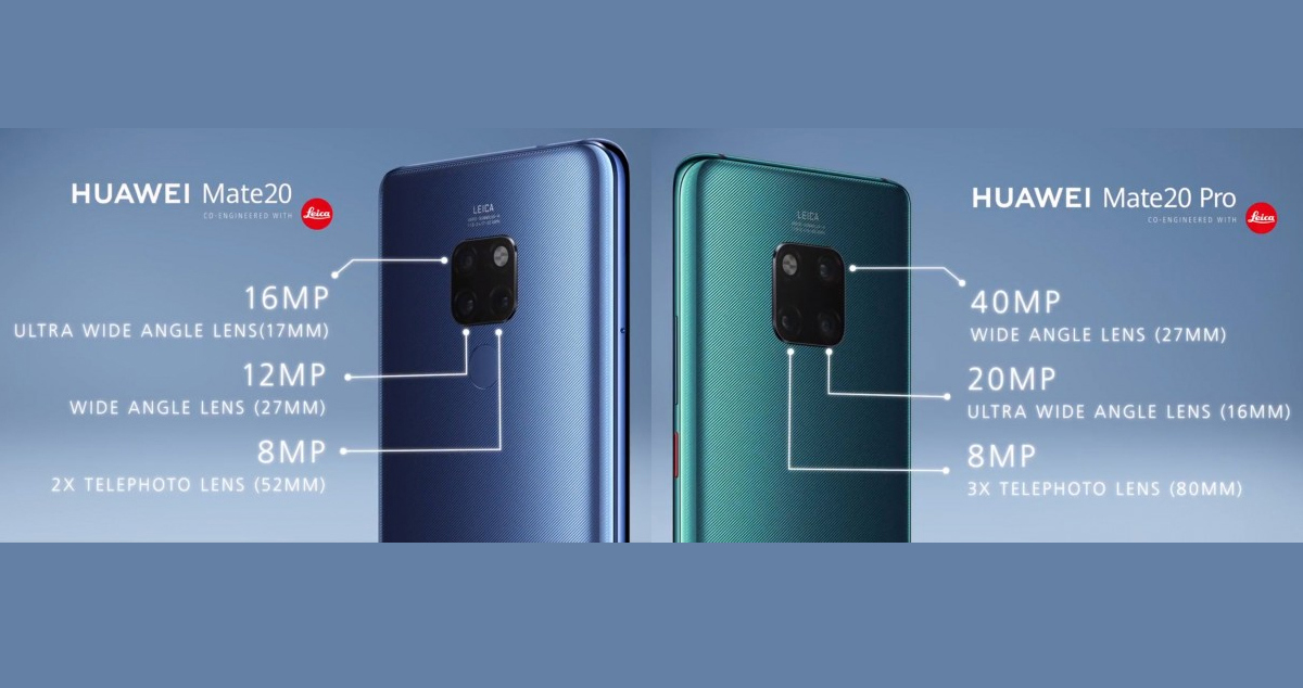 Huawei Mate 20 vs Huawei Mate 20 Pro Camera