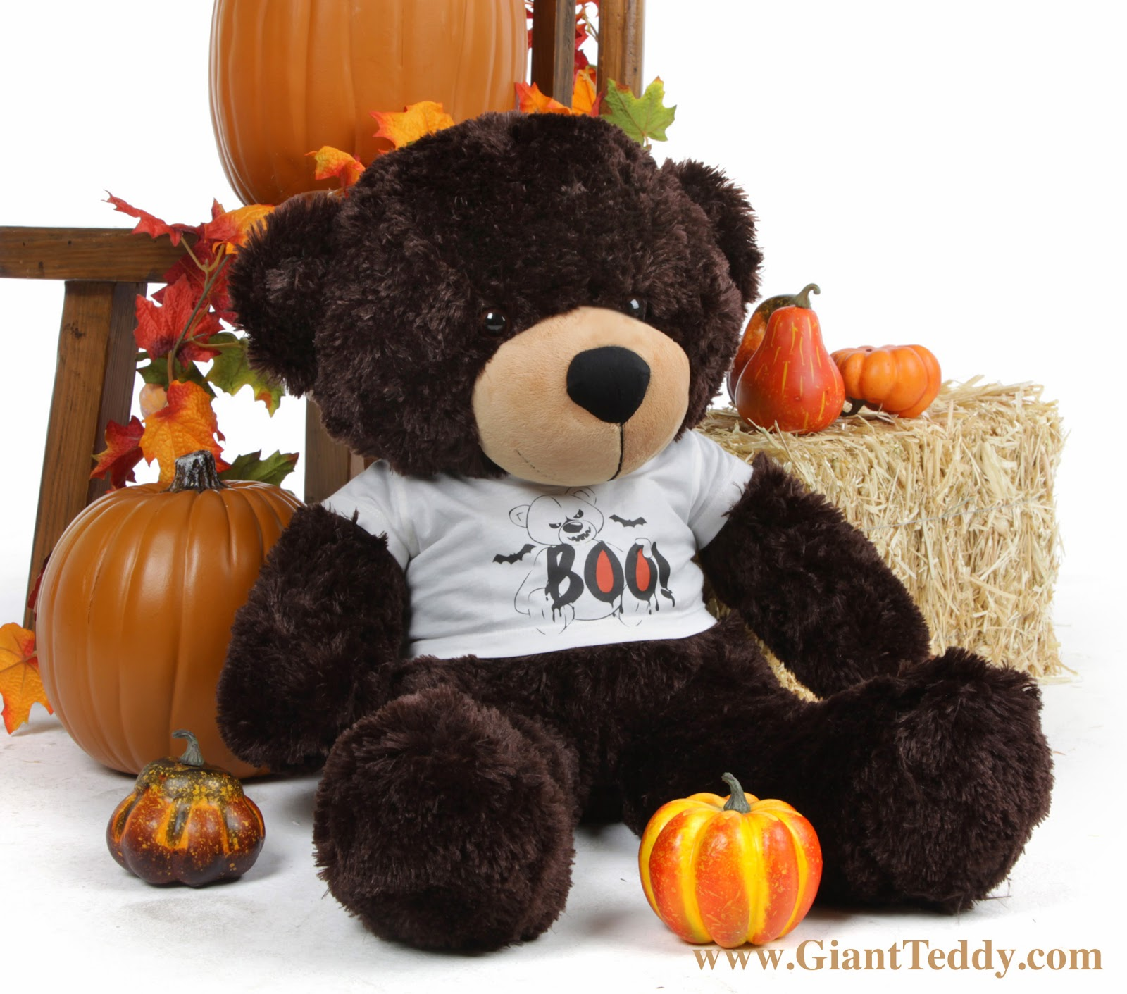 30 inch Brownie Cuddles Boo! Bear for Halloween