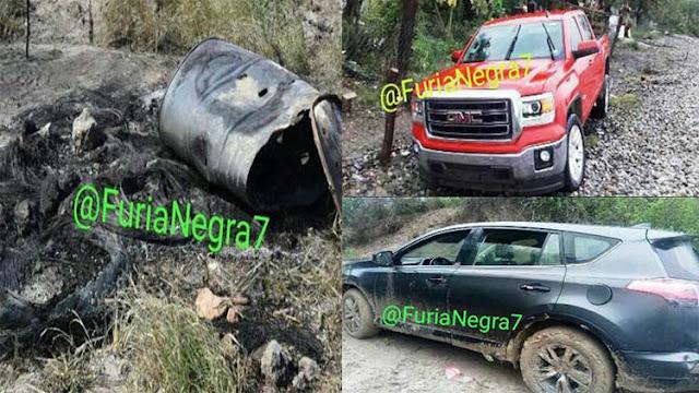 """Localizan otra """"cocina humana"""" en Reynosa y el Cártel del Golfo abandona 6 camionetas blindadas después de enfrentamiento"""