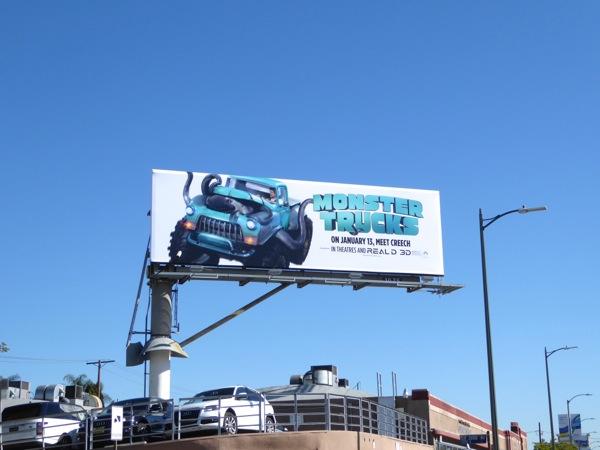 Monster Trucks film billboard