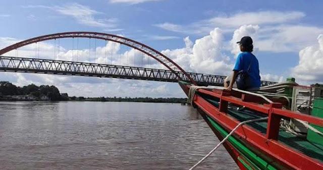 Suasana di Sungai Kahayan, Palangkaraya