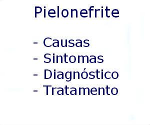 Pielonefrite causas sintomas diagnóstico tratamento prevenção riscos complicações