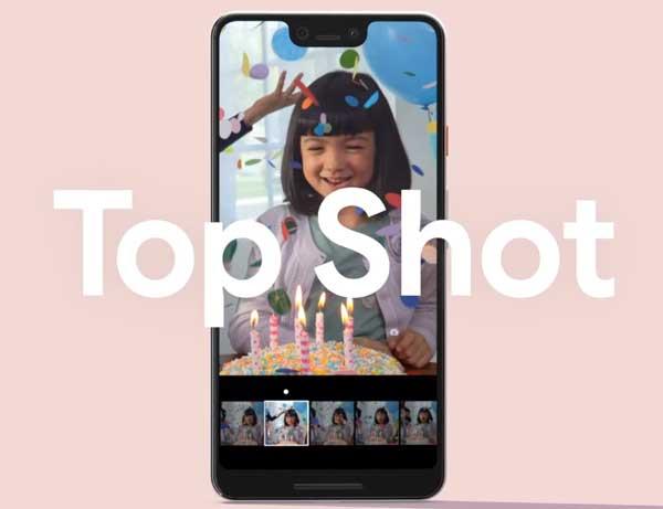 fitur top shot google pixel 3