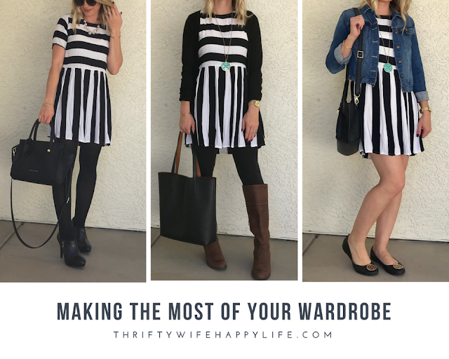 Thrifty Wife, Happy Life || How to wear a dress after you have shrunk it in the dryer?