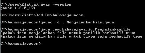 mengatur akses file pada Java