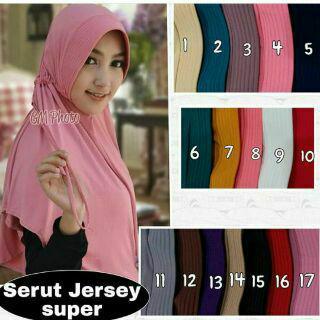 hijab cantik serut jersey