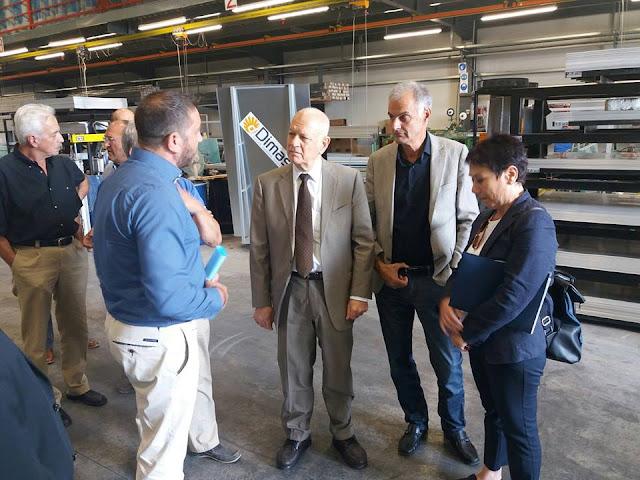 """Επίσκεψη του Υπουργού Οικονομίας Ανάπτυξης Δ. Παπαδημητρίου στην επιχείρηση """"Dimas Solar Energy"""""""