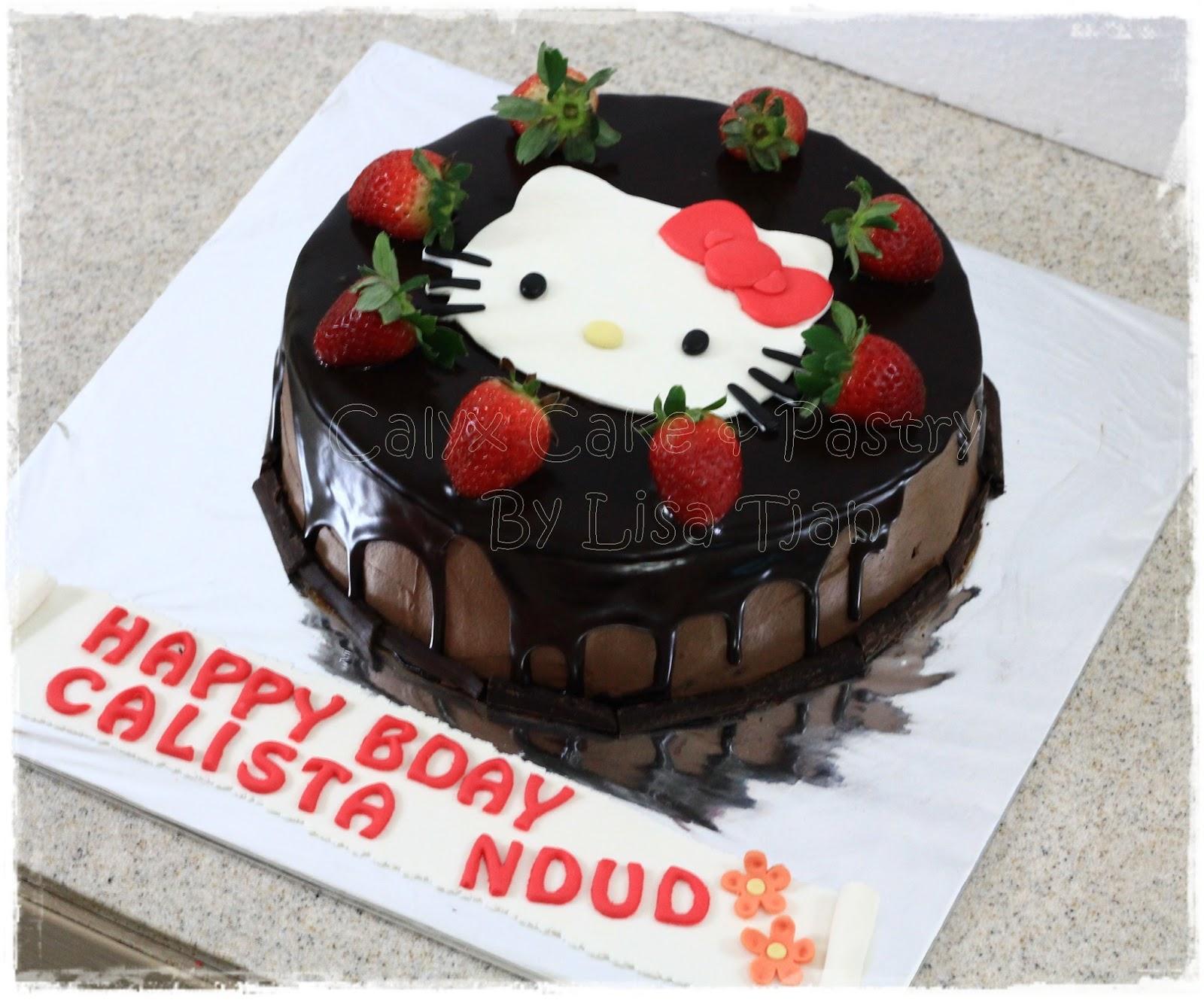 Calyx Cake Pastry Hello Kitty Chocolate Cake Calista