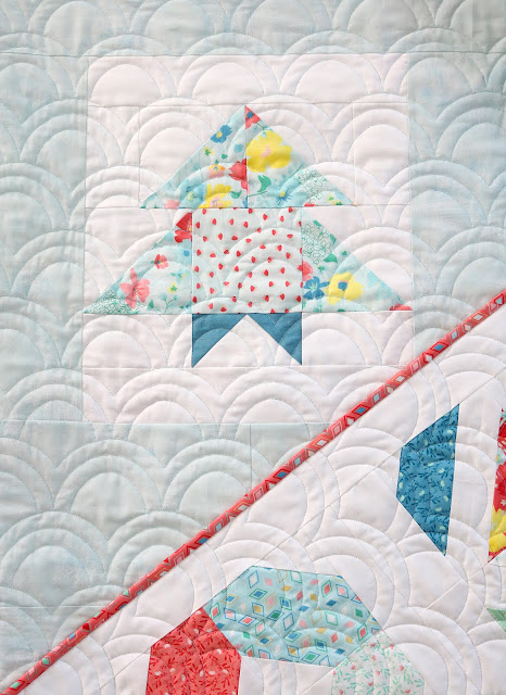Charming Baby Sew Along sampler quilt sewn by Andy of A Bright Corner - a charm pack friendly sew along quilt