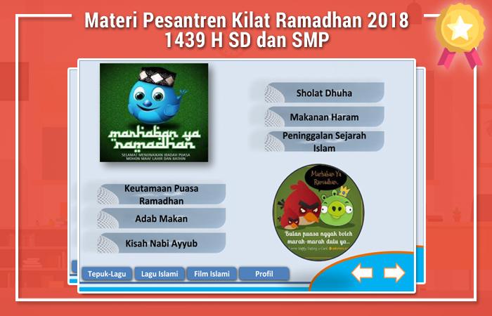 Materi Pesantren Kilat Ramadhan 2018 1439 H SD dan SMP
