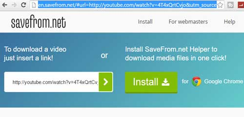 Savefrom site to download youtube videos without any software download