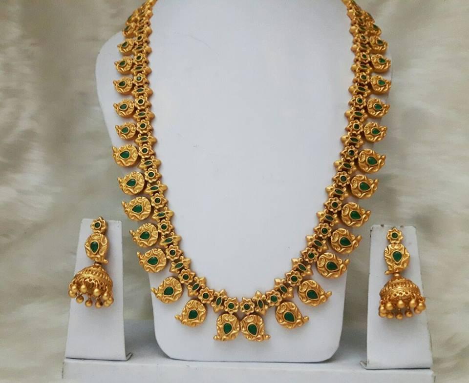 1 gram gold mango mala designs jewellery designs