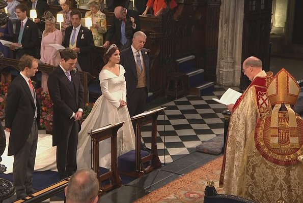 Queen Elizabeth, Kate Middleton, Meghan Markle, Princess Charlotte, Prince George at wedding. Savannah Philips, and Autumn. wedding tiara