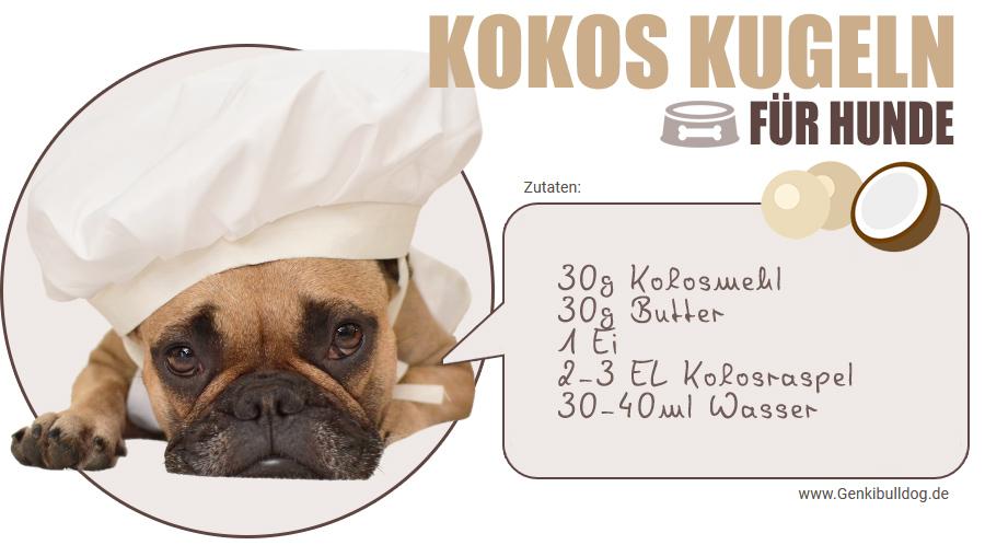 Rezept Kokoskugeln für Hunde Mit Kokosmehl glutenfrei und getreidefrei backen
