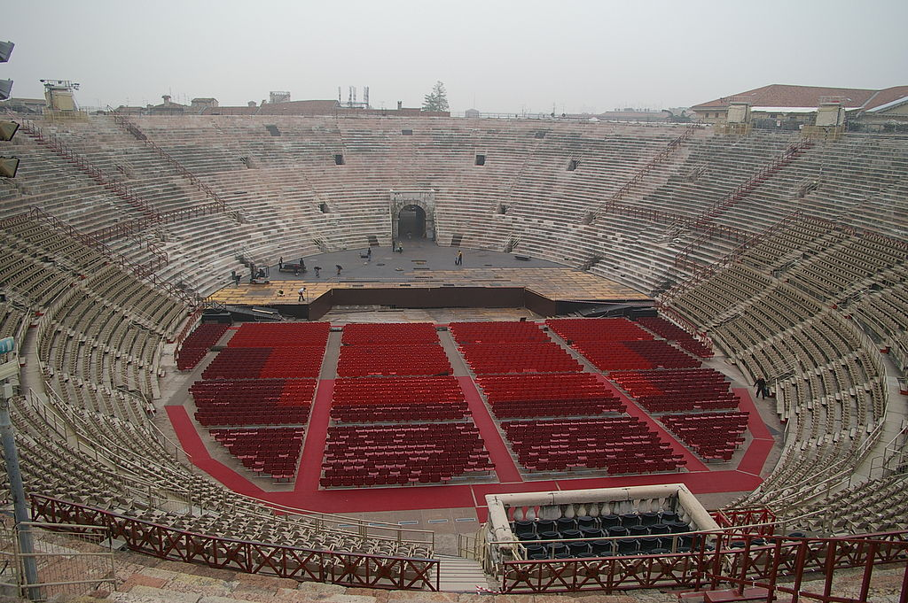 Interior view of the Verona Arena. Photo: WikiMedia.org.