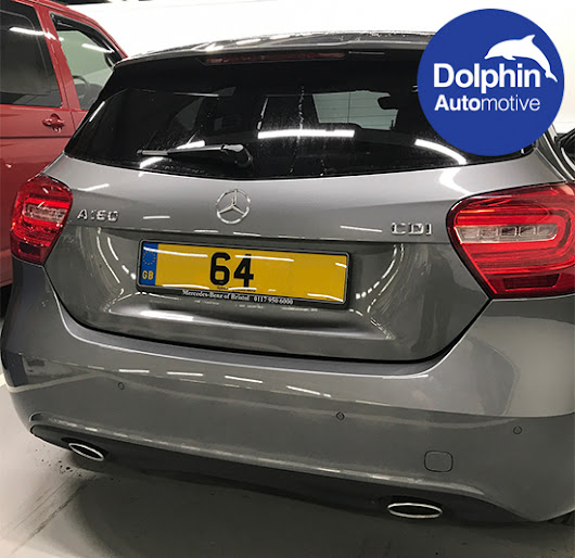 Mercedes A 180 Fitted With Custom Sprayed Flush Fit Parking Sensors