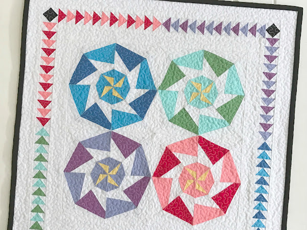 Saw Blade Mini Quilt + Your Free August 2017 Calendar