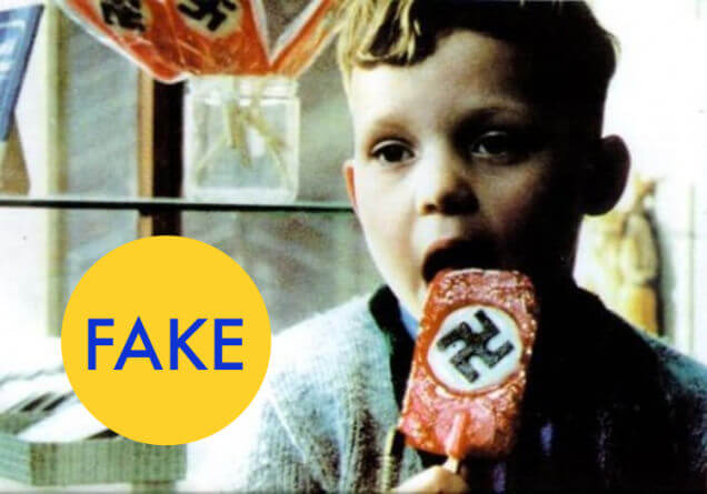 10 Photos That Became Viral But Are Actually Edited - Is this real candy, branded by the Nazis