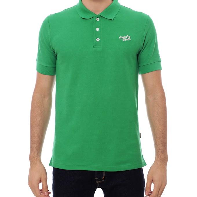 Kaos Polo Shirt Premium Pria Vegas Green